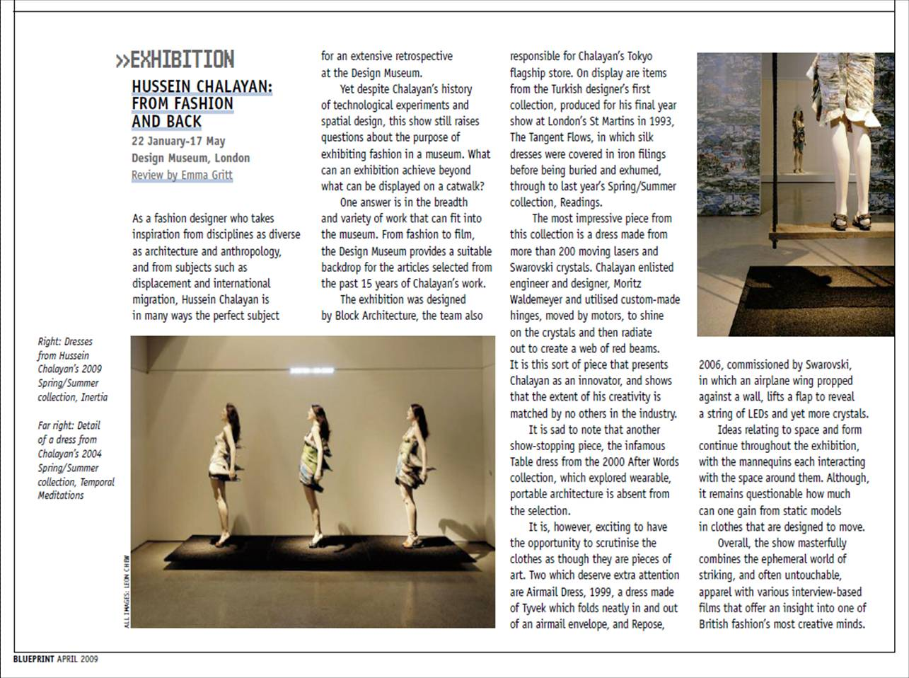 Blueprint magazine kara simsek tags blueprint magazine exhibition hussein chalayan review malvernweather Image collections